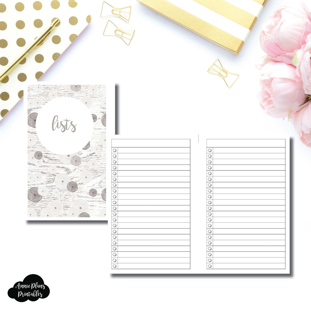 Half Letter Rings SIZE | Lists Printable Insert ©