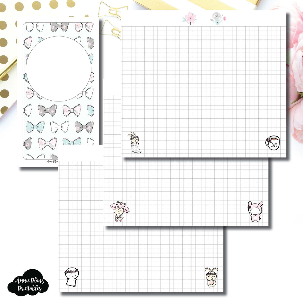Personal TN Size | theCoffeeMonsterzco & Sparkly Paper Co Collab Grid Printable Insert ©
