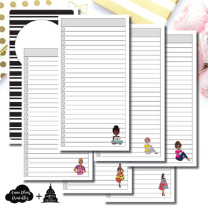 Standard TN Size | Capital Chic Designs Collaboration LIST Printable Insert ©