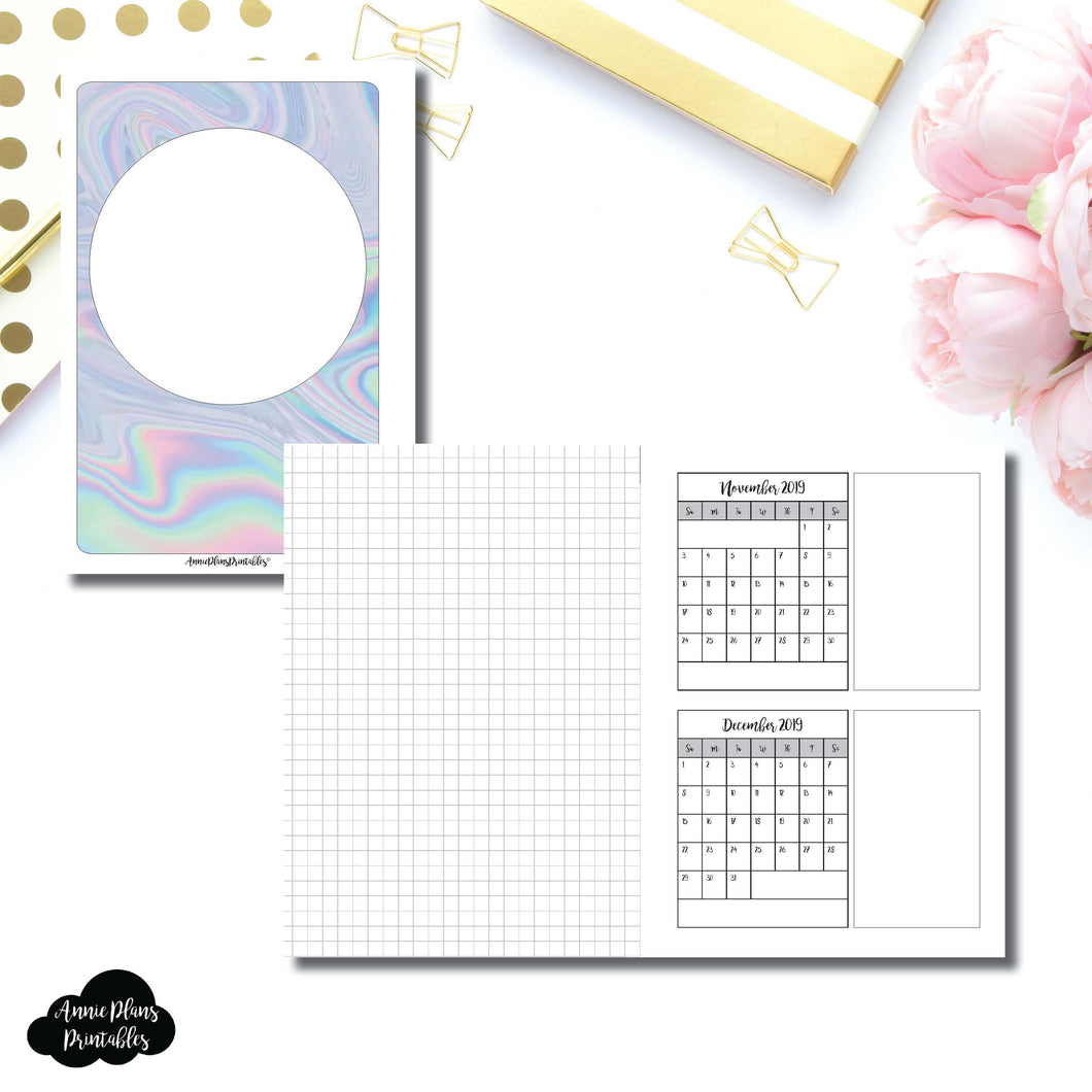 Personal Wide Rings Size | 18 Month (July 2018 - December 2019) Forward Planning Printable Insert ©