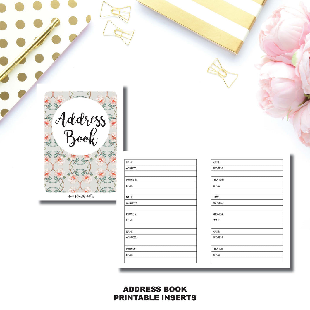MICRO TN SIZE | Address Book Printable Insert ©