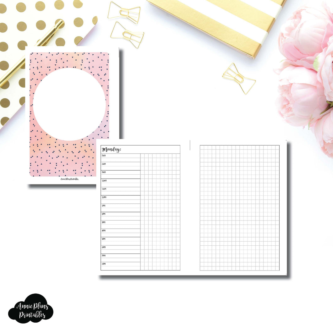 Personal Wide Rings Size | UNDATED Day on 2 Pages Printable Insert ©