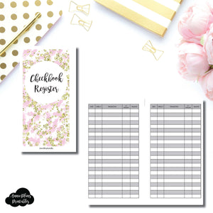Personal Rings Size | CHECKBOOK REGISTER Printable Insert ©