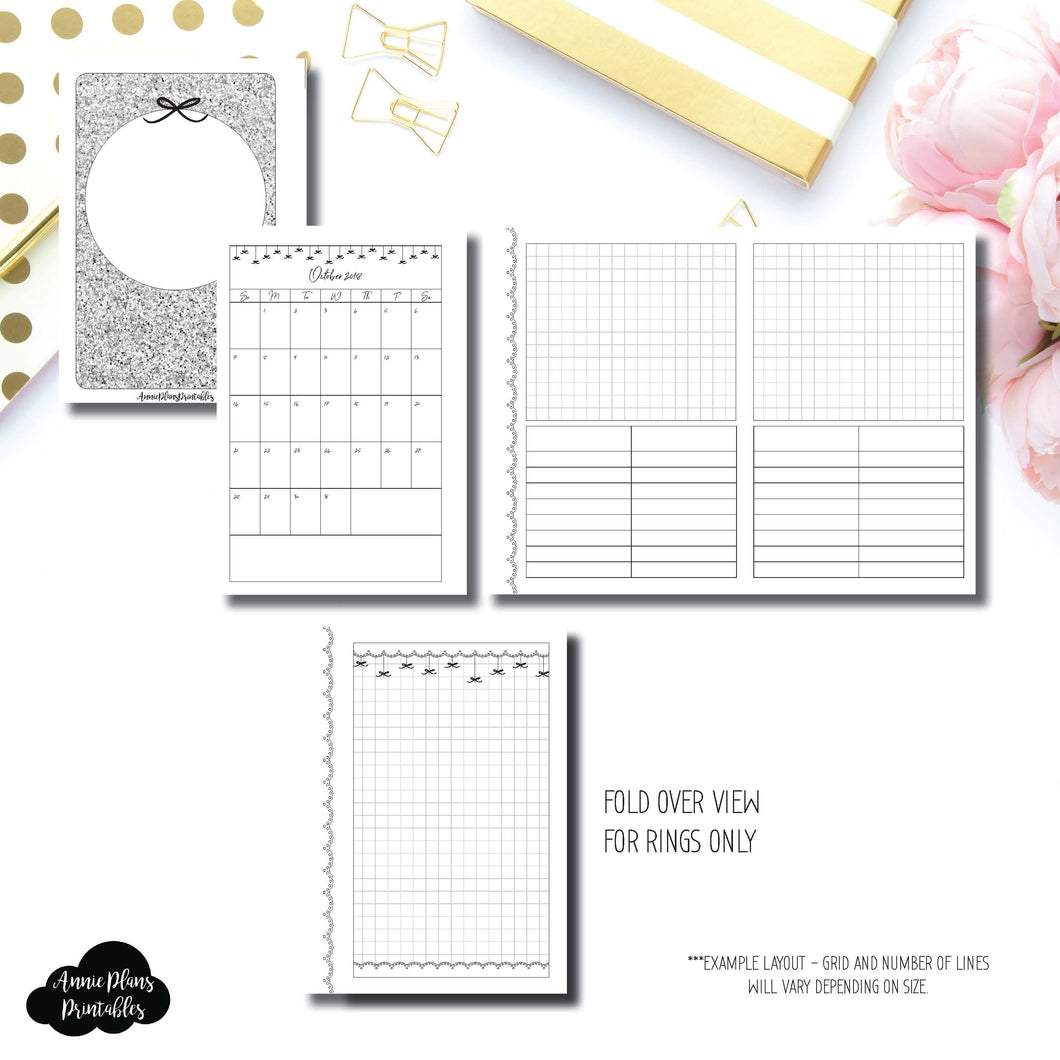 A6 Rings Size | 15 Month (OCT 2018 - DEC 2019) Fold Over EllePlan Collaboration Printable Insert ©