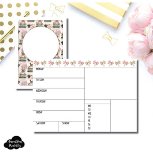 Passport TN Size | Undated Week on 2 Page Collaboration Printable Insert ©