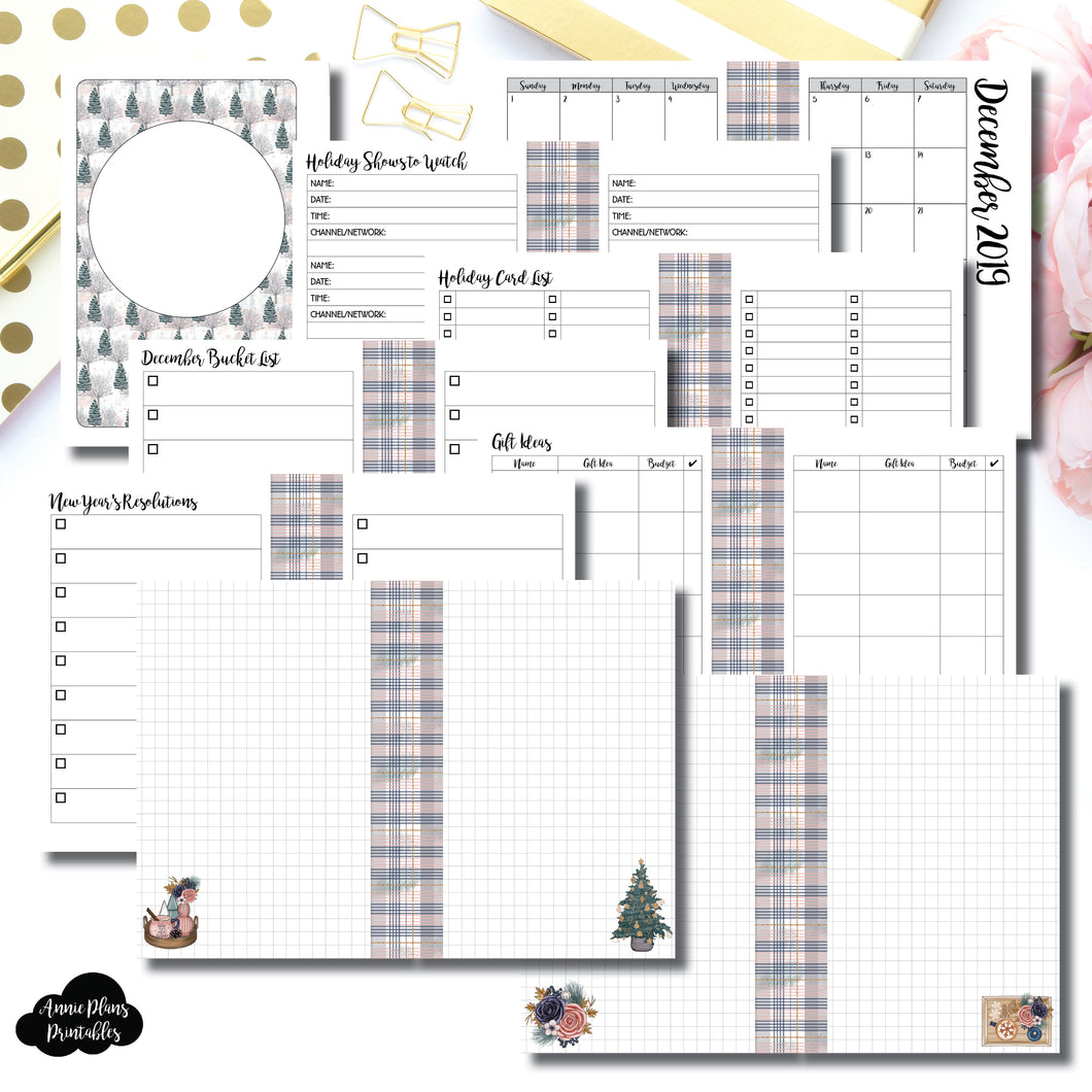 Personal TN Size | 2019 Holiday Planning Bundle Printable Insert ©