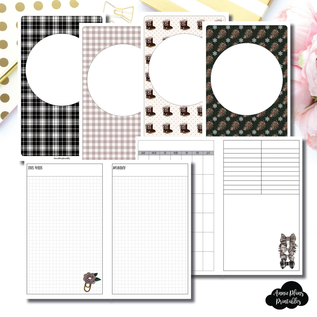 CAHIER TN Size | COZY Undated Daily Printable Insert ©