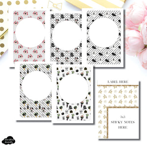 Pocket Plus Rings Size | Fashionista Blank Covers + Sticky Note Dashboard Printable