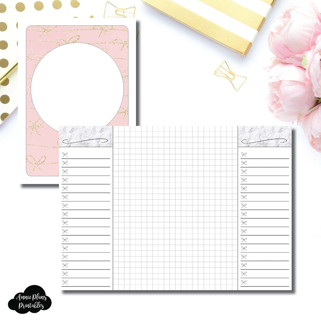 A6 TN Size | List + Grid Collaboration Printable Insert