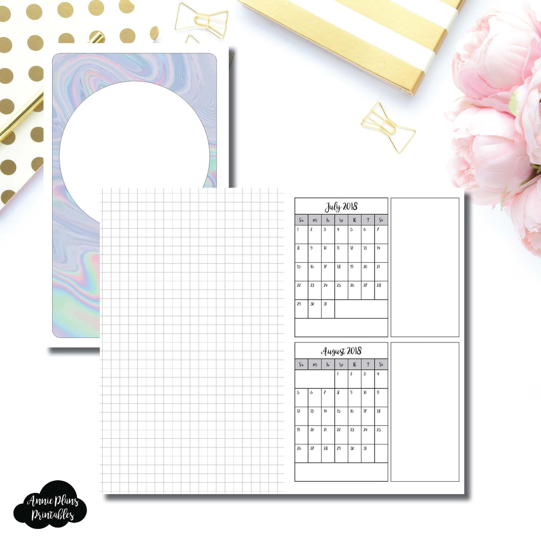 B6 Slim TN Size | 18 Month (July 2018 - December 2019) Forward Planning Printable Insert ©