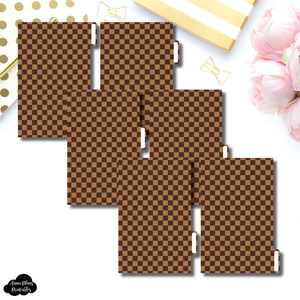 FC Ring Dividers | Luxe Brown 6 Side Tab Printable Dividers