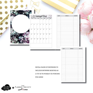 Personal Wide Rings Size | LIMITED EDITION: NOV TPS Dated Monthly Expense Collaboration Printable Insert ©