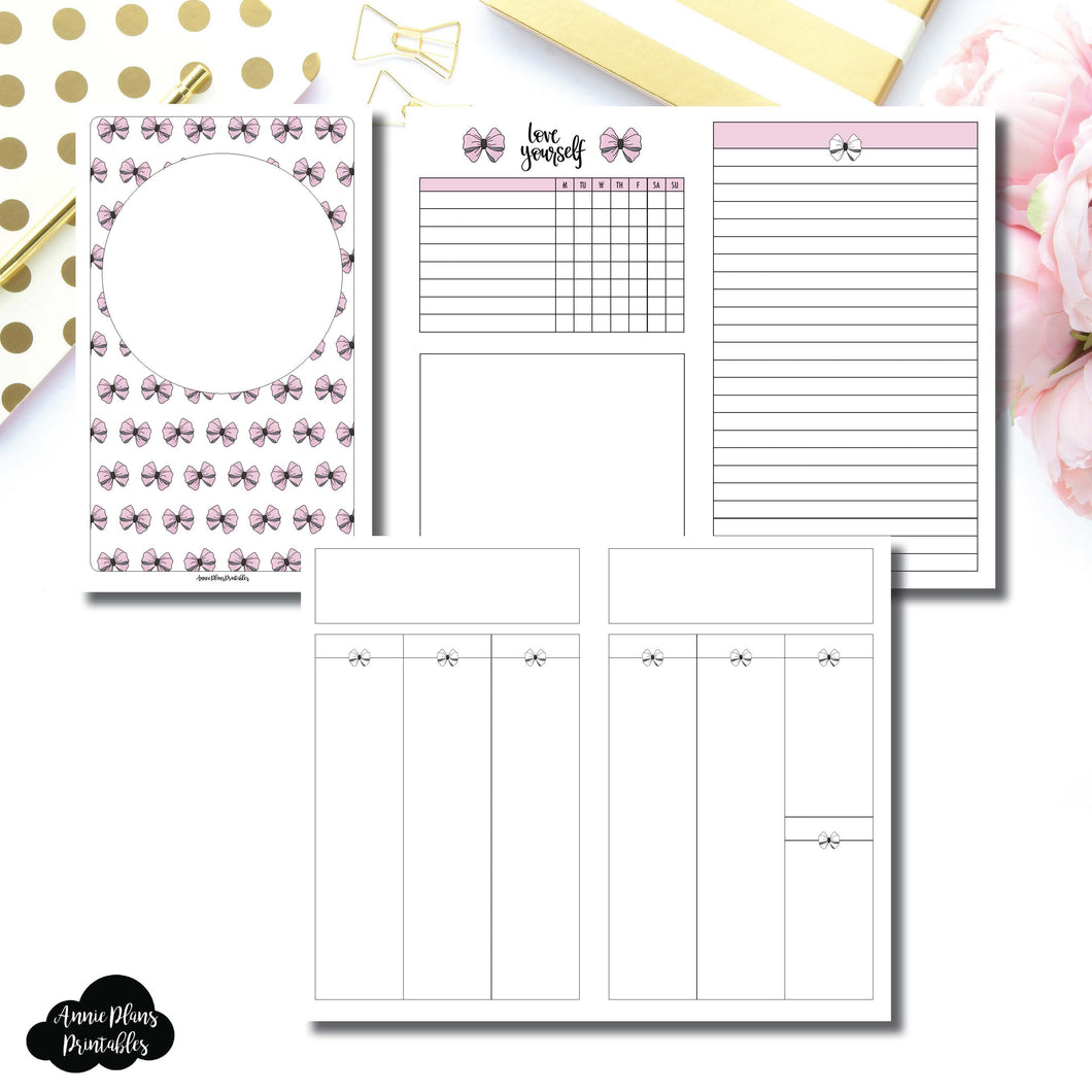 Cahier TN Size | Undated Week on 2 Weeks Shell's Scribbles Collaboration Printable Insert ©
