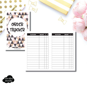 Pocket TN SIZE | Basic Order Tracker Printable Insert ©