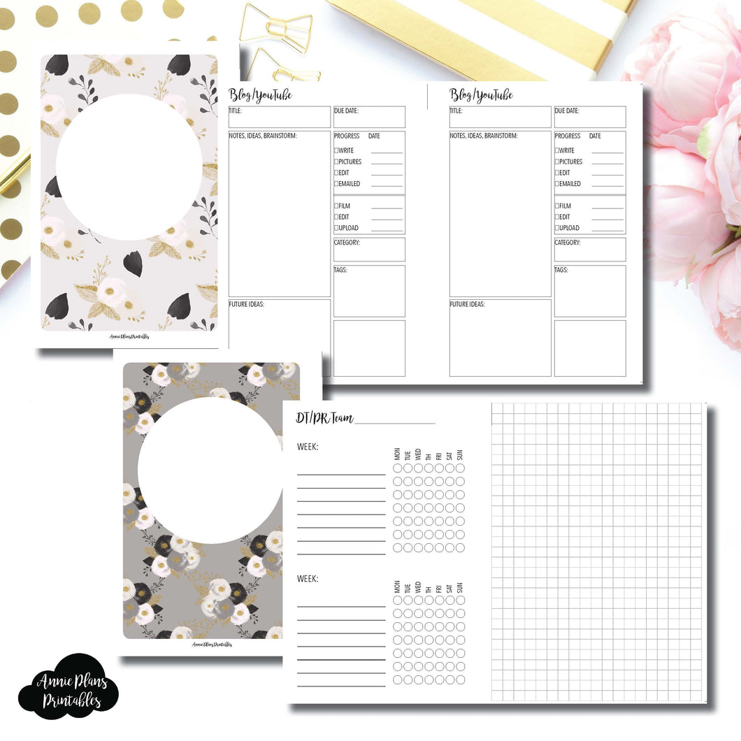 Mini HP Size | Social Media Tracking Bundle Printable Insert ©