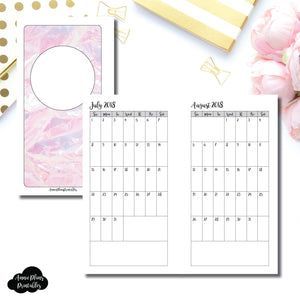 Personal Rings Size | 18 Month (July 2018 - December 2019) SINGLE PAGE Monthly Printable Insert ©