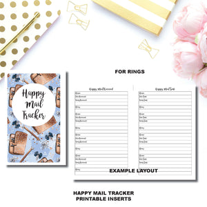 Half Letter Rings Size | Happy Mail Tracker Printable Insert ©