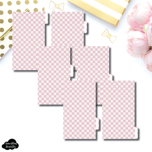 Personal Ring Dividers | Luxe Pink 6 Side Tab Printable Dividers