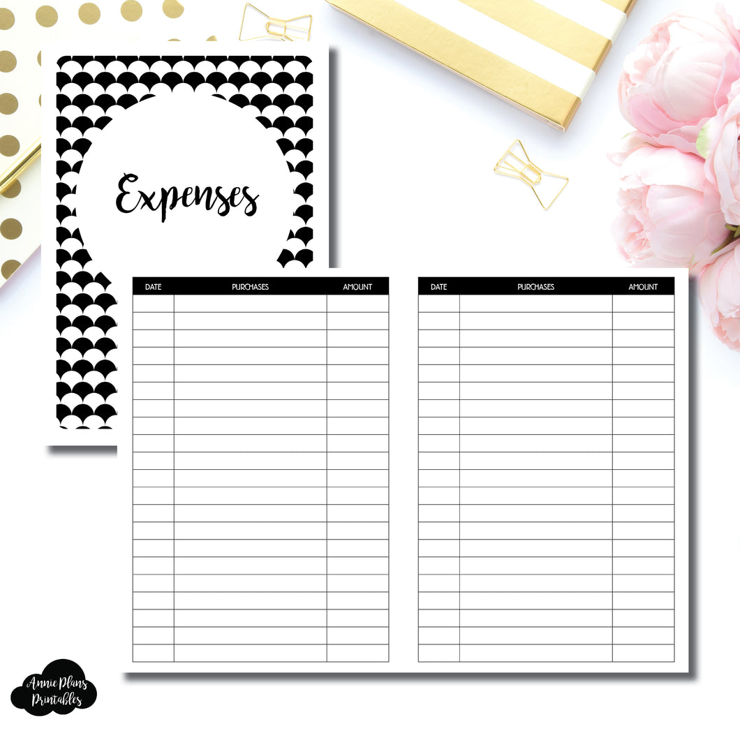 B6 TN Size | Basic Expense Tracker Printable Insert ©