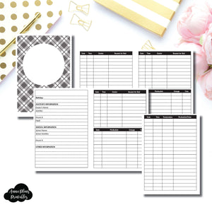 B6 Rings Size | KIDS Information Printable Insert ©