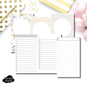 Cahier TN Size  | UNDATED DAILY GRID Printable Insert Travelers Notebooks ©