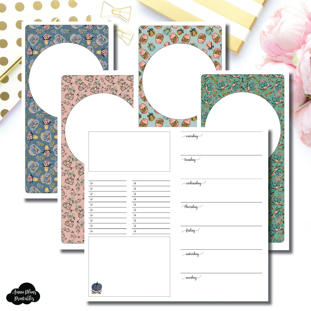 Standard TN Size | Blank Covers + Undated Week on 2 Page Collaboration Printable Insert ©