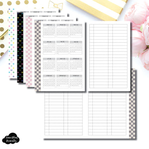 Mini HP Size | 2020 Year at a Glance Fold Over Printable Insert ©
