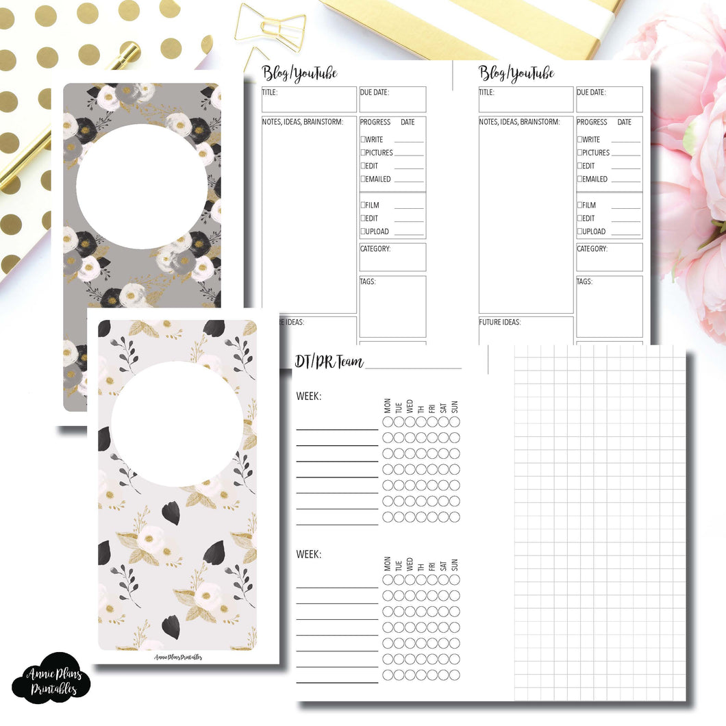 Personal Rings Size | Social Media Tracking Bundle Printable Insert ©