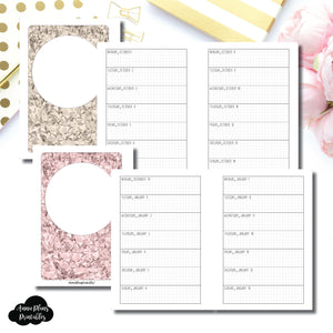 A6 Rings Size | OCT 2018 - DEC 2019 Week on 1 Page Layout (Monday Start) Printable Insert ©