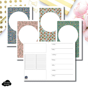 Half Letter Rings Size | Blank Covers + Undated Week on 2 Page Collaboration Printable Insert ©