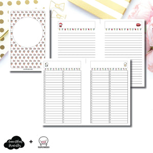 Mini HP Size | TheCoffeeMonsterzCo Collaboration Holiday Notes & Lists Printable Insert ©