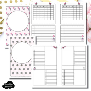 Half Letter Rings Size | Spot Drop Birthday Bundle Collaboration Printable Inserts ©