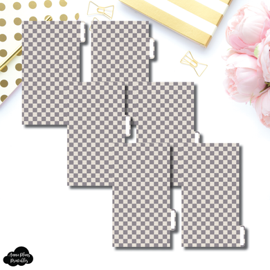 Personal Ring Dividers | Luxe Grey 6 Side Tab Printable Dividers