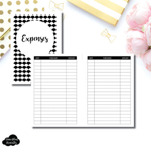 Personal Wide Rings Size | Basic Expense Tracker Printable Insert ©
