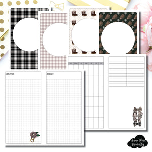 STANDARD TN Size | COZY Undated Daily Printable Insert ©