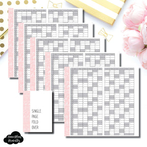 Personal Rings Size | 2018- 2022 Single Page Year at a Glance Printable Insert ©