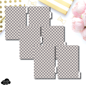 FC Ring Dividers | Luxe Grey 6 Side Tab Printable Dividers