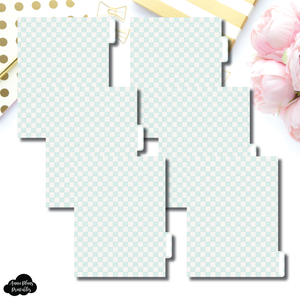 B6 Ring Dividers | Luxe Mint 6 Side Tab Printable Dividers