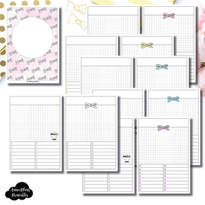 B6 Rings Size | Undated Day on a Page or Project HappieScrappie Collaboration Printable Insert ©