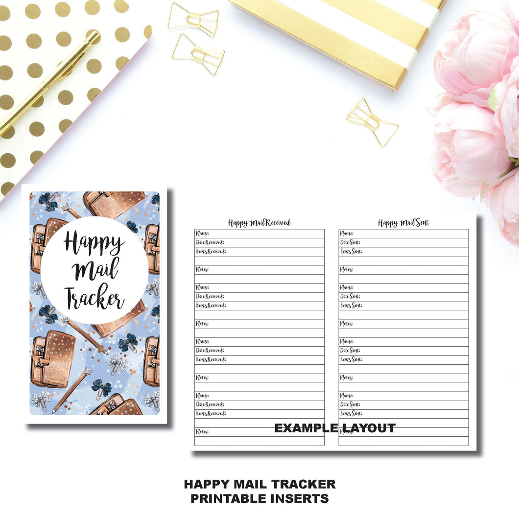 Cahier TN Size | Happy Mail Tracker Printable Insert ©