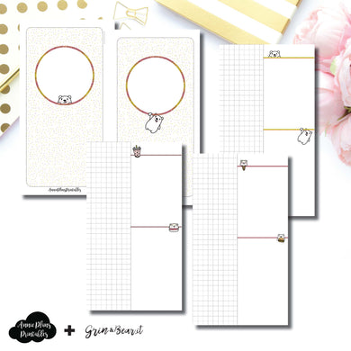 Personal TN Size | Grin & Bear It Collaboration Grid Column Printable Insert ©