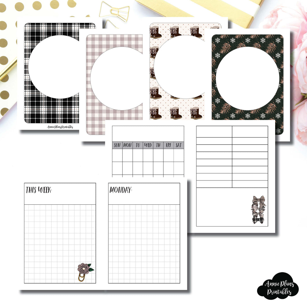 MICRO TN Size | COZY Undated Daily Printable Insert ©