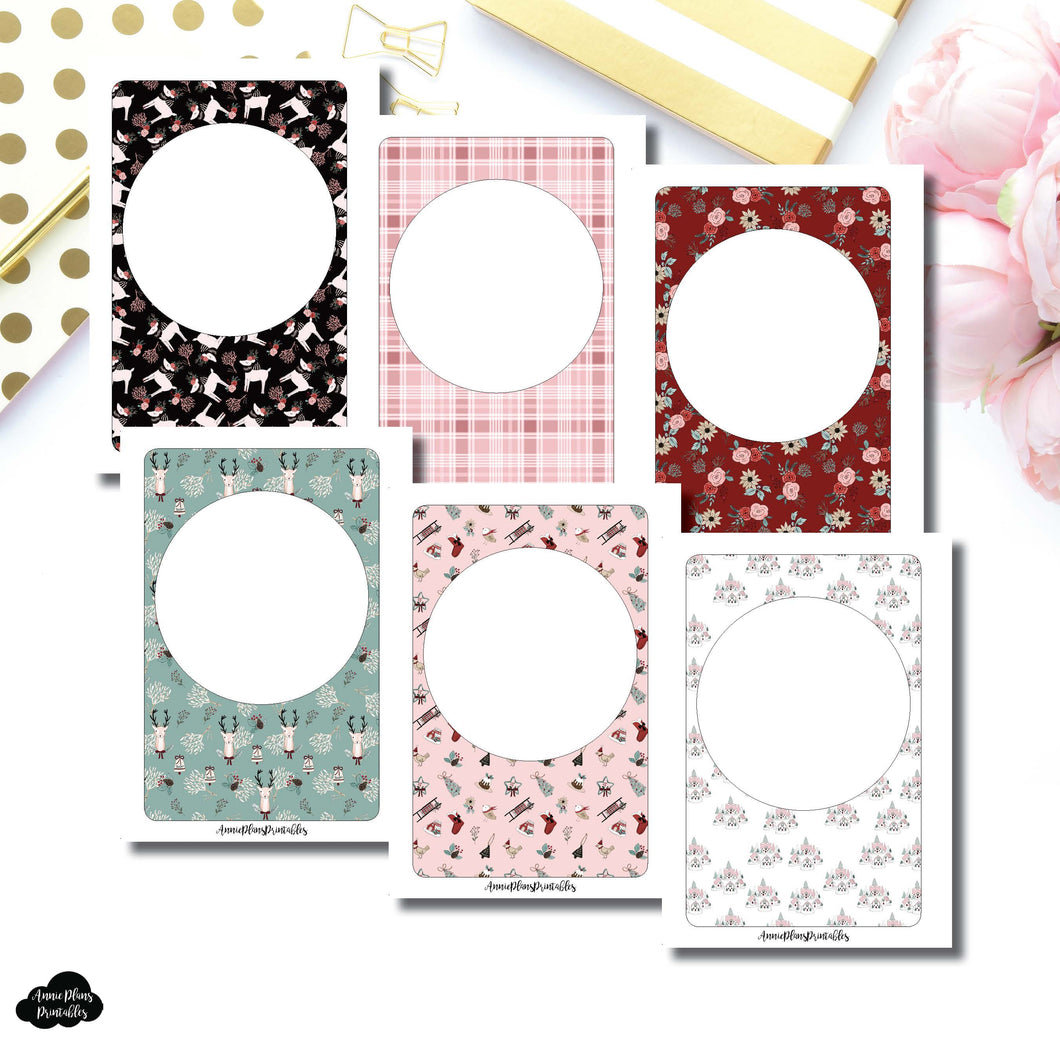 A6 Rings Size | Holiday Themed Blank Printable Covers for Inserts ©