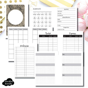 Pocket Rings Size | Vacation Planning Printable Insert ©