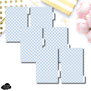 FC Ring Dividers | Luxe Blue 6 Side Tab Printable Dividers