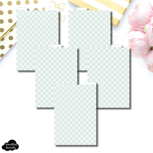 A5 Ring Dividers | Luxe Mint 5 Top Tab Printable Dividers
