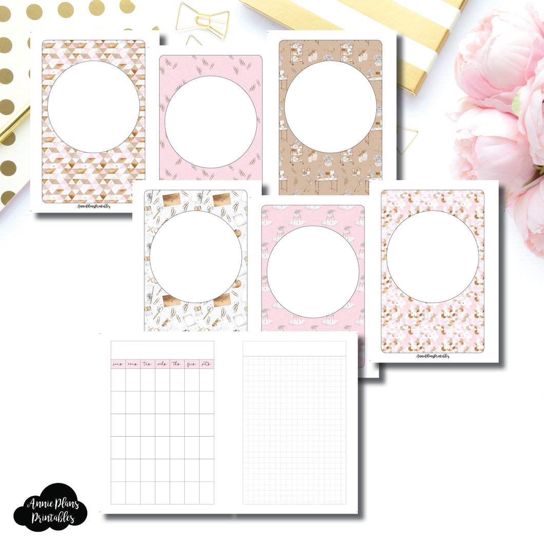 Pocket Rings Size | Undated Monthly Memory Keeping Printable Insert ©