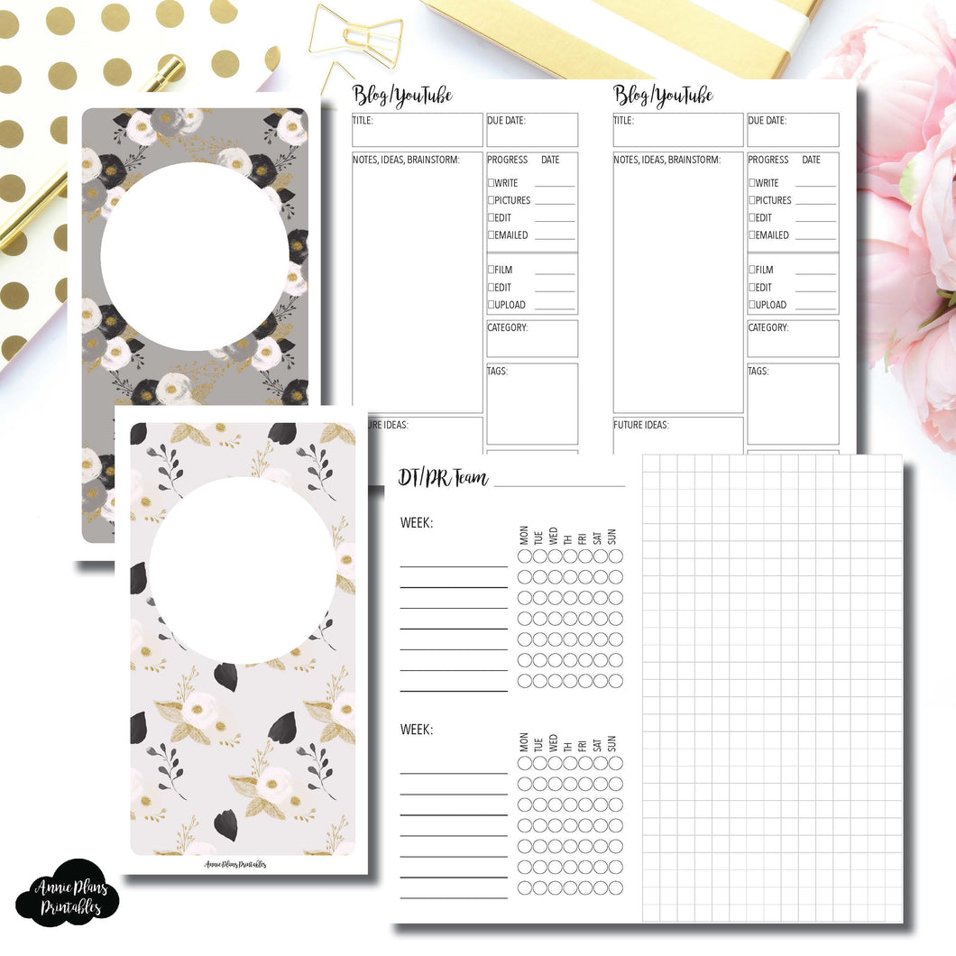 Personal TN Size | Social Media Tracking Bundle Printable Insert for Travelers Notebook ©