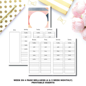 Pocket TN Size | Wellness Tracker Printable Insert ©