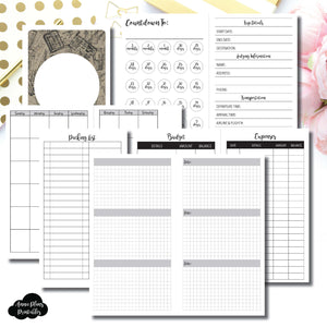 Personal Rings Size | Vacation Planning Printable Insert ©